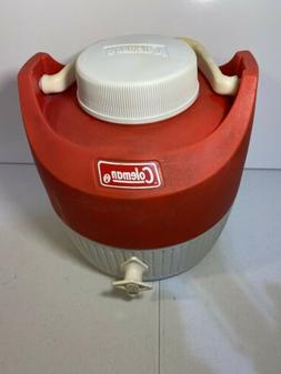 VINTAGE COLEMAN 1 Gallon Water Jug With Beverage Cup, Made i