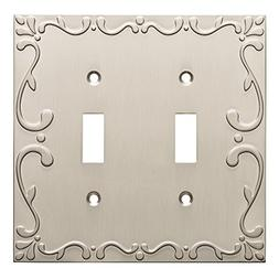 Franklin Brass W35073-SN-C Classic Lace Double Switch Wall P
