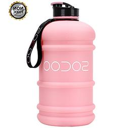 Water Bottle Big 2.2Liter Cool Rubber Coating Reusable Plast