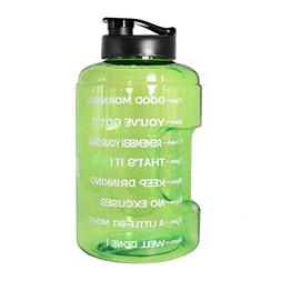 1 Gallon Water Bottle Inspirational Fitness Workout Sports W