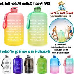 Water Bottle With Motivational Time Marker Wide Mouth Large
