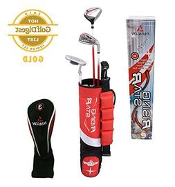 Paragon Golf Youth Golf Club Set, Red, Ages 3-5 - Right Hand